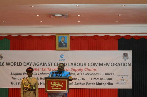 Mutharika talks tough on child labour: it is a crime against future generation