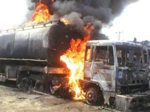 Malawian tanker set ablaze