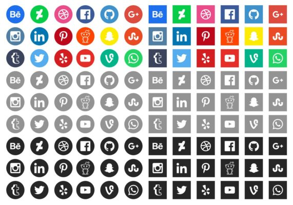 Free Social Media Icons by Vecteezy
