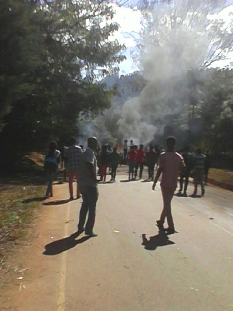 Chanco students protesting violently; college closed