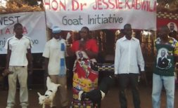 Kabwira in goat distribution exercise