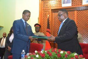 Peter Mutharika and President Lungu