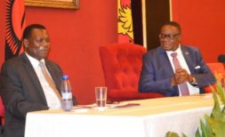 Mutharika with powerful 'farting' minister Chaponda