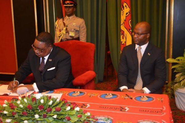Pres. Peter Mutharika and Atupele Muluzi