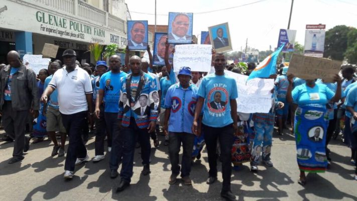 DPP Cadres marching against effective social media gurus