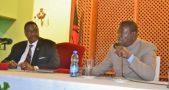Mutharika and Frank Malunga (right)