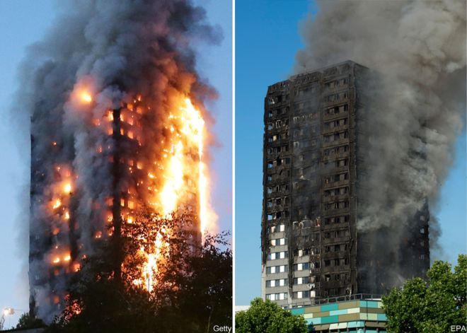 Casualties as Massive Fire Engulfs 27-storey London Tower Block
