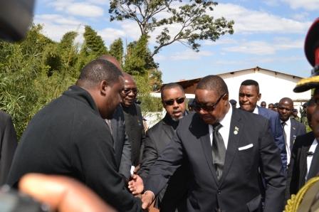 Peter mutharika bids Kalirani Farewell