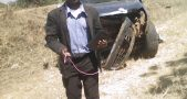 Kabwira's damaged Car