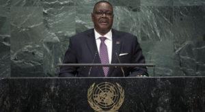Peter Mutharika at UN