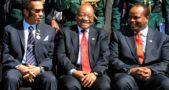 Jacob Zuma with Botswana President Seretse Ian Khama