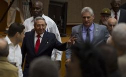Raul Castro and Diaz-Canel