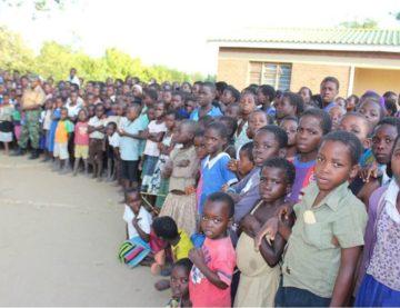 UN Women with Malawi School Children