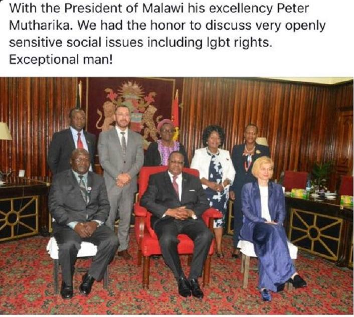 UN Women with Peter Mutharika