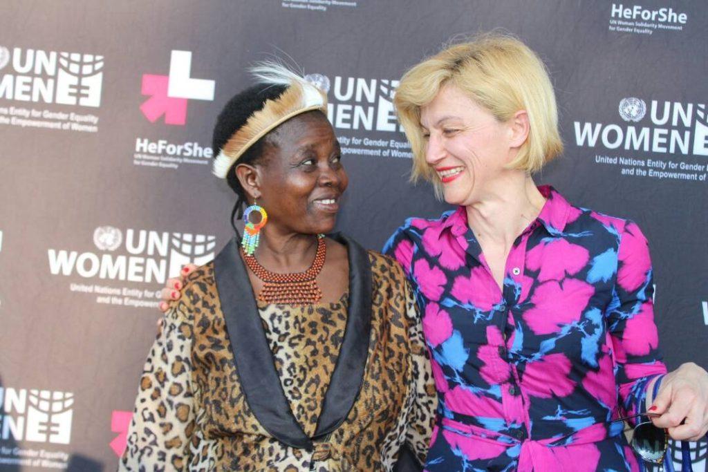 Ivana Japevic with Chief Kachindamoto