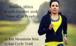 Kelly Holmes running in Malawi