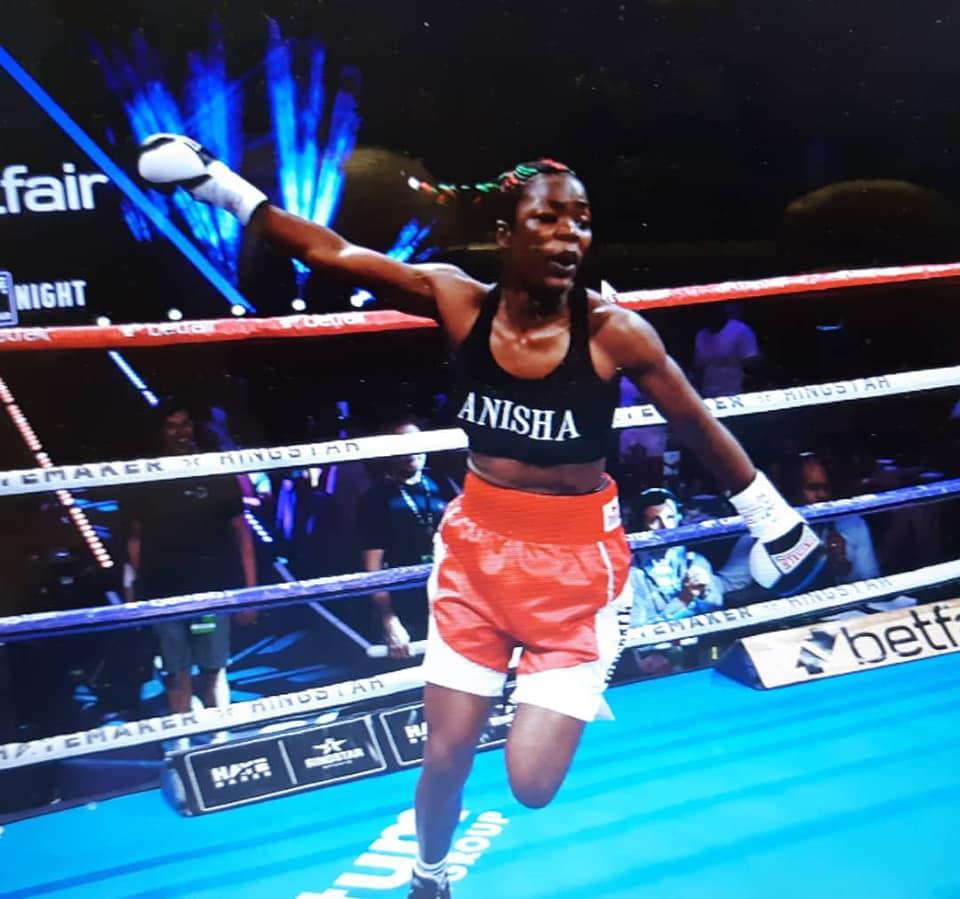 Malawi woman boxer Anisha