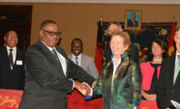 Peter Mutharika and Mary Robinson
