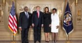 Mr and Mrs Mutharika with Mr and Mrs Trump