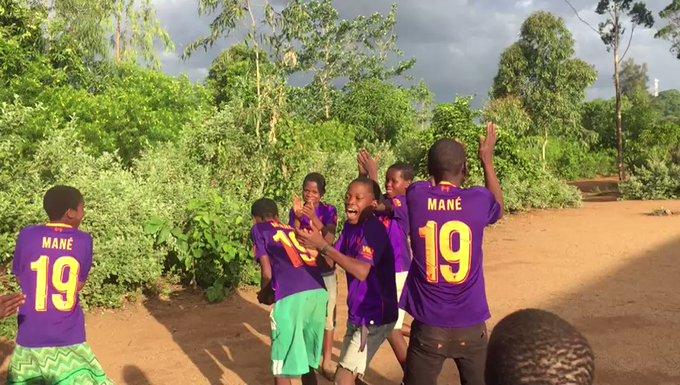 Orphans in Malawi receive over 100 Sadio Mane No. 19 shirts