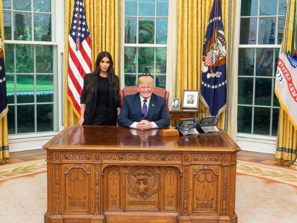 Kim Kardashian praises Trump