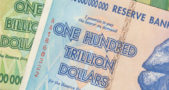 A one hundred trillion Zimbabwe dollar note