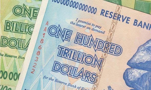 A One Hundred Trillion Zimbabwe Dollar Note