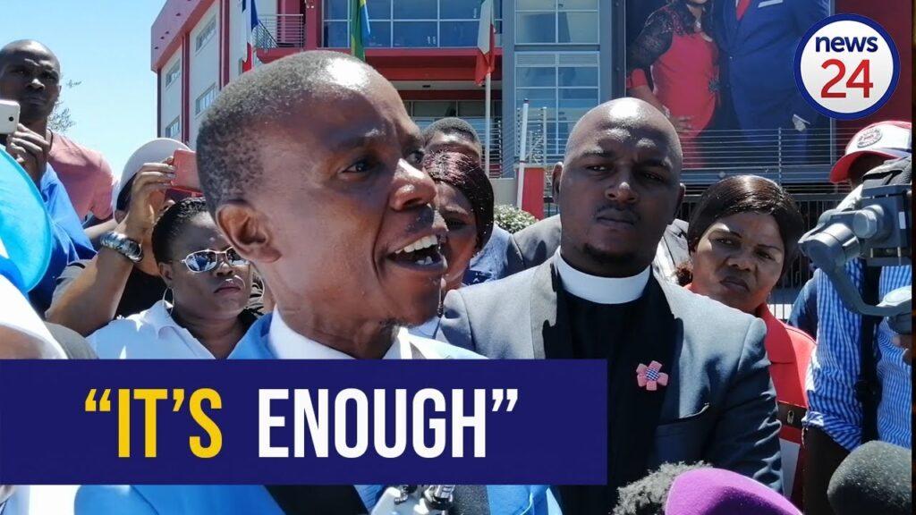 resurrected man in Pastor Alph Lukau's controversial video