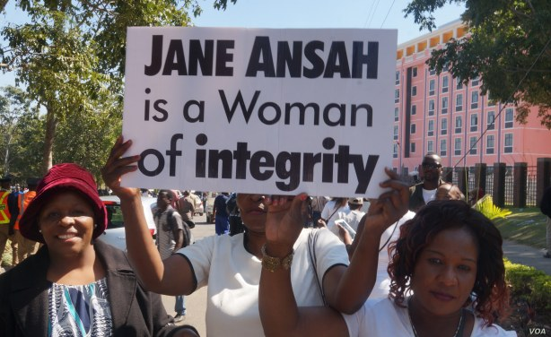 demos in Support of Ansah