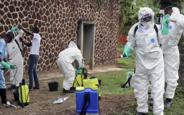 EBOLA workers in DRC