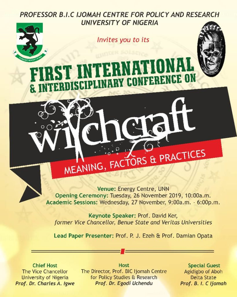 Image result for witchcraft conference in unn